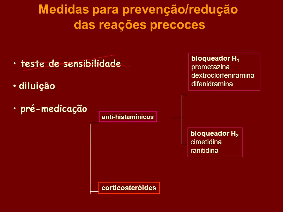Medidas para prevenção/redução