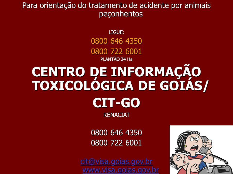 CENTRO DE INFORMAÇÃO TOXICOLÓGICA DE GOIÁS/