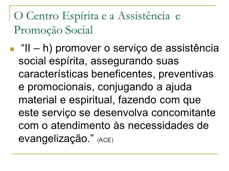O Centro Espírita e a Assistência e Promoção Social