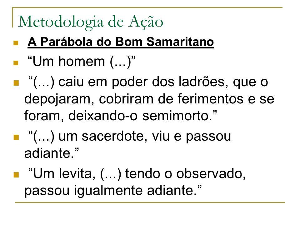 Metodologia de Ação A Parábola do Bom Samaritano. Um homem (...)