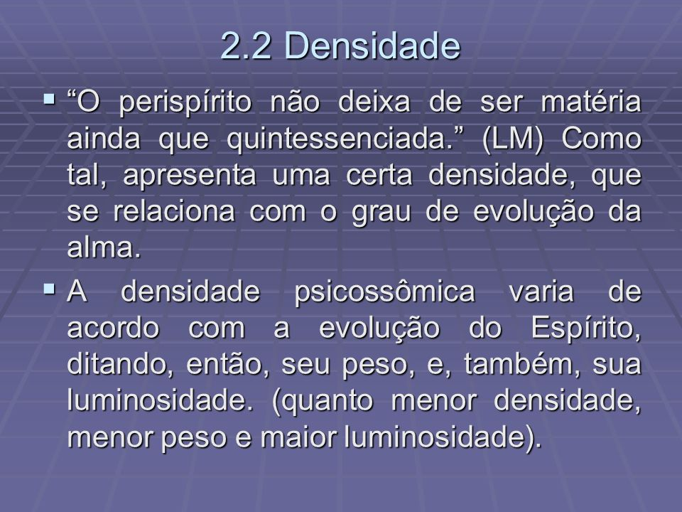 2.2 Densidade