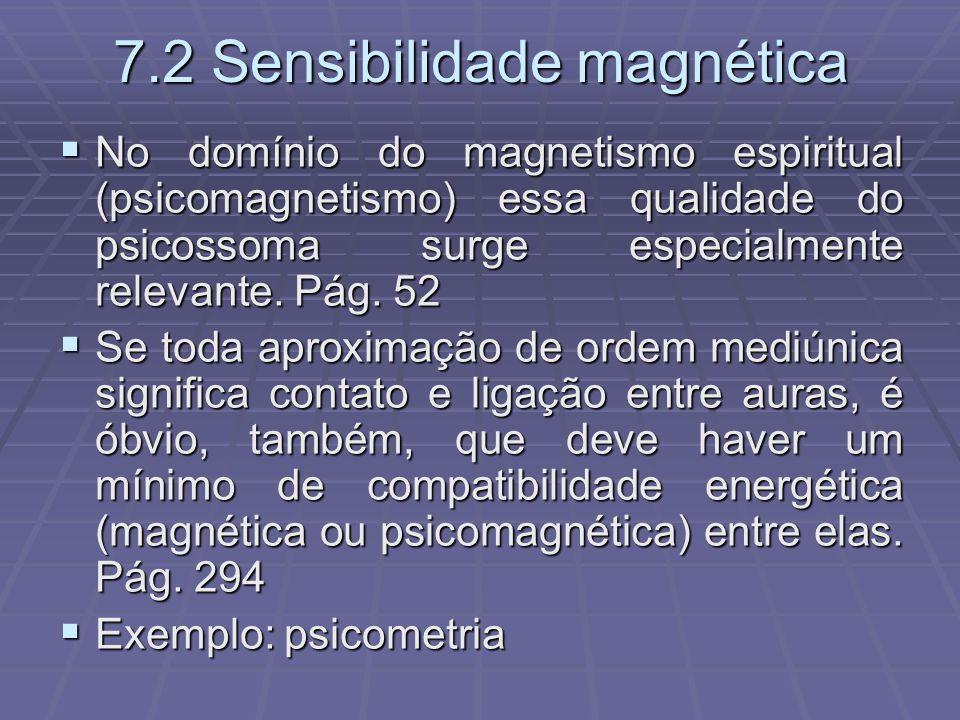 7.2 Sensibilidade magnética