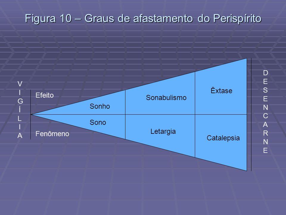 Figura 10 – Graus de afastamento do Perispírito