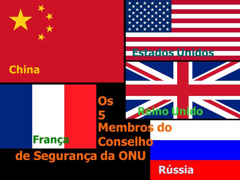 Os 5 Membros do Conselho de Segurança da ONU Estados Unidos China