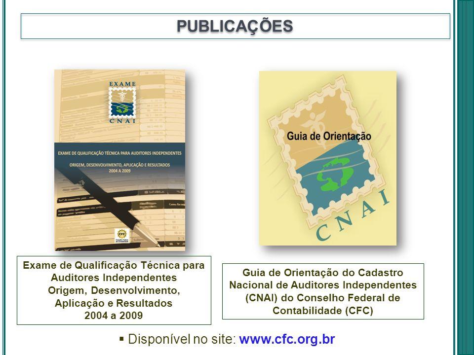 PUBLICAÇÕES Disponível no site: www.cfc.org.br