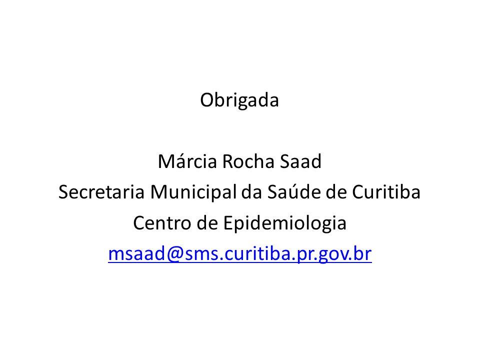 Secretaria Municipal da Saúde de Curitiba Centro de Epidemiologia