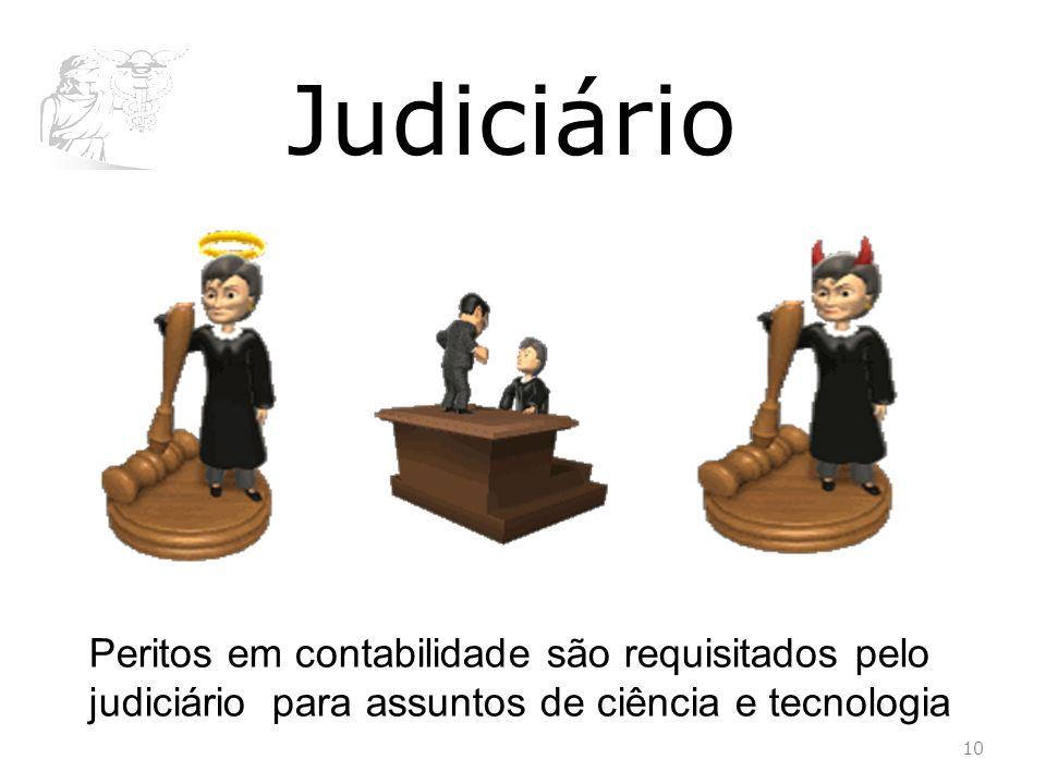 Judiciário Peritos em contabilidade são requisitados pelo judiciário para assuntos de ciência e tecnologia.