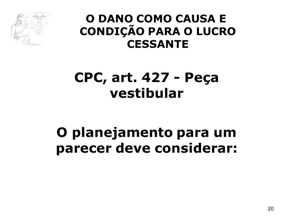CPC, art. 427 - Peça vestibular