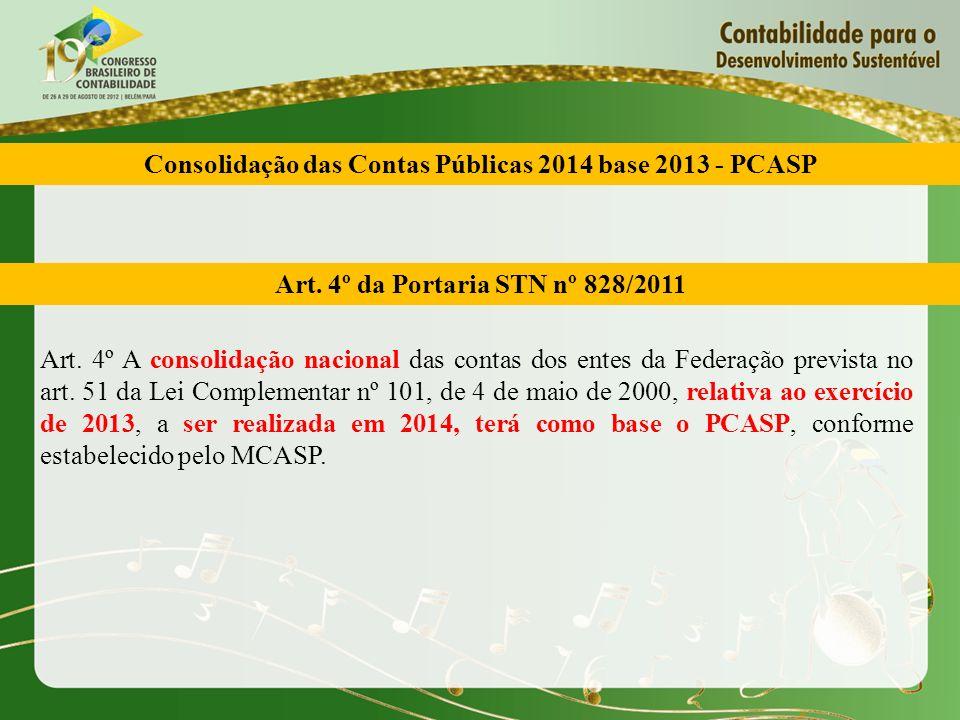Consolidação das Contas Públicas 2014 base 2013 - PCASP
