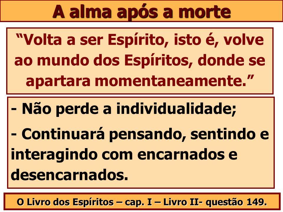 O Livro dos Espíritos – cap. I – Livro II- questão 149.