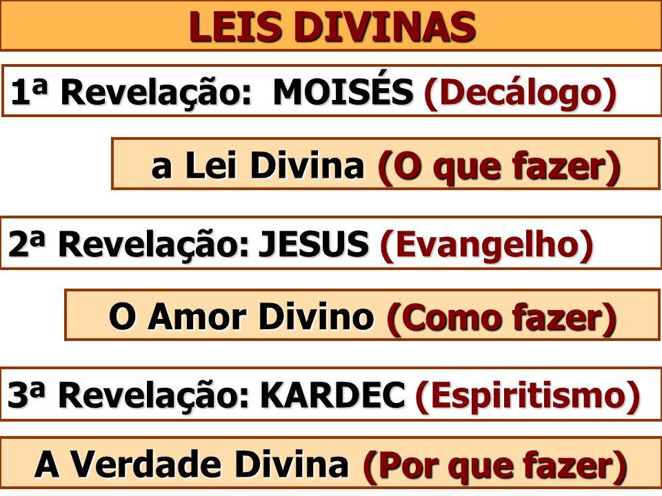 LEIS DIVINAS a Lei Divina (O que fazer) O Amor Divino (Como fazer)