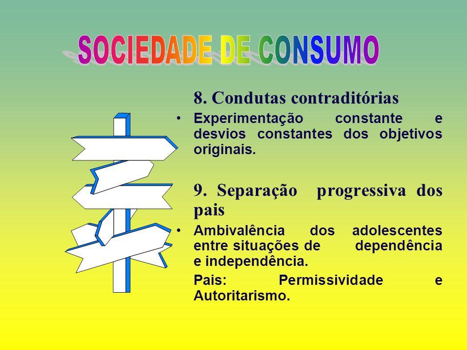 SOCIEDADE DE CONSUMO 8. Condutas contraditórias