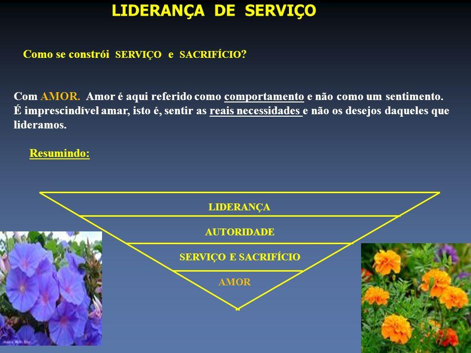 LIDERANÇA DE SERVIÇO Como se constrói SERVIÇO e SACRIFÍCIO