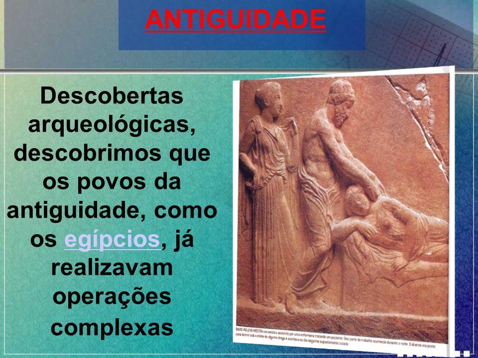 ANTIGUIDADE Descobertas arqueológicas, descobrimos que os povos da antiguidade, como os egípcios, já realizavam operações complexas.