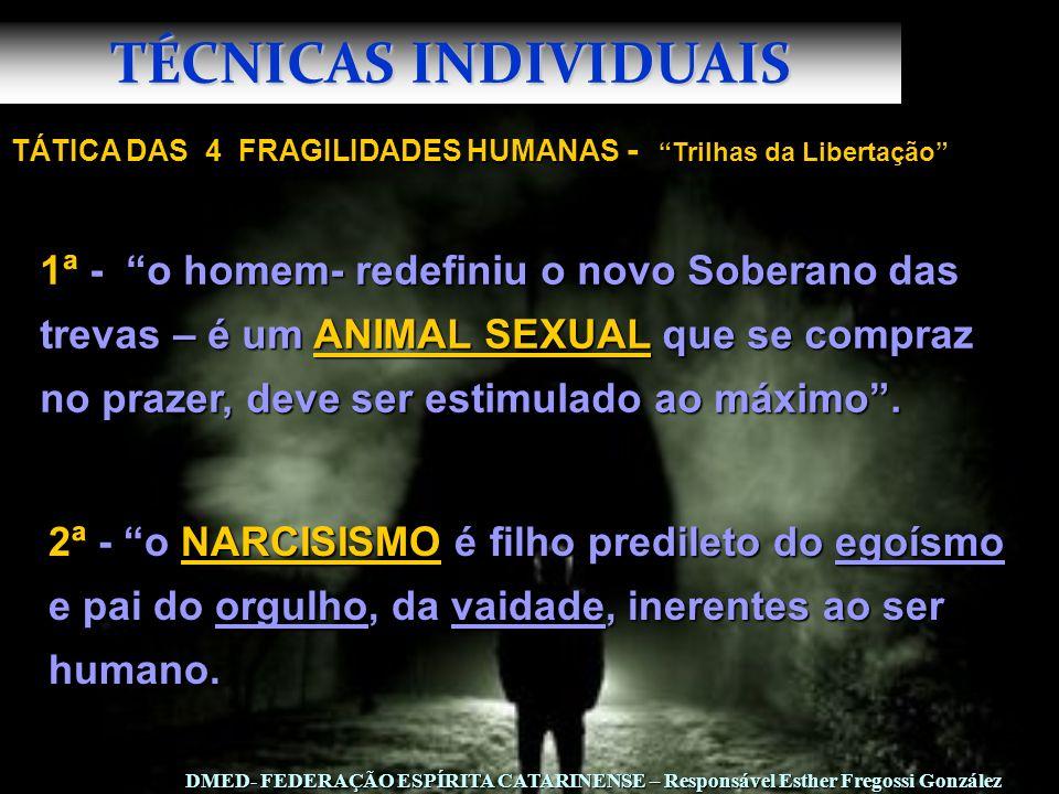 TÉCNICAS INDIVIDUAIS TÁTICA DAS 4 FRAGILIDADES HUMANAS - Trilhas da Libertação