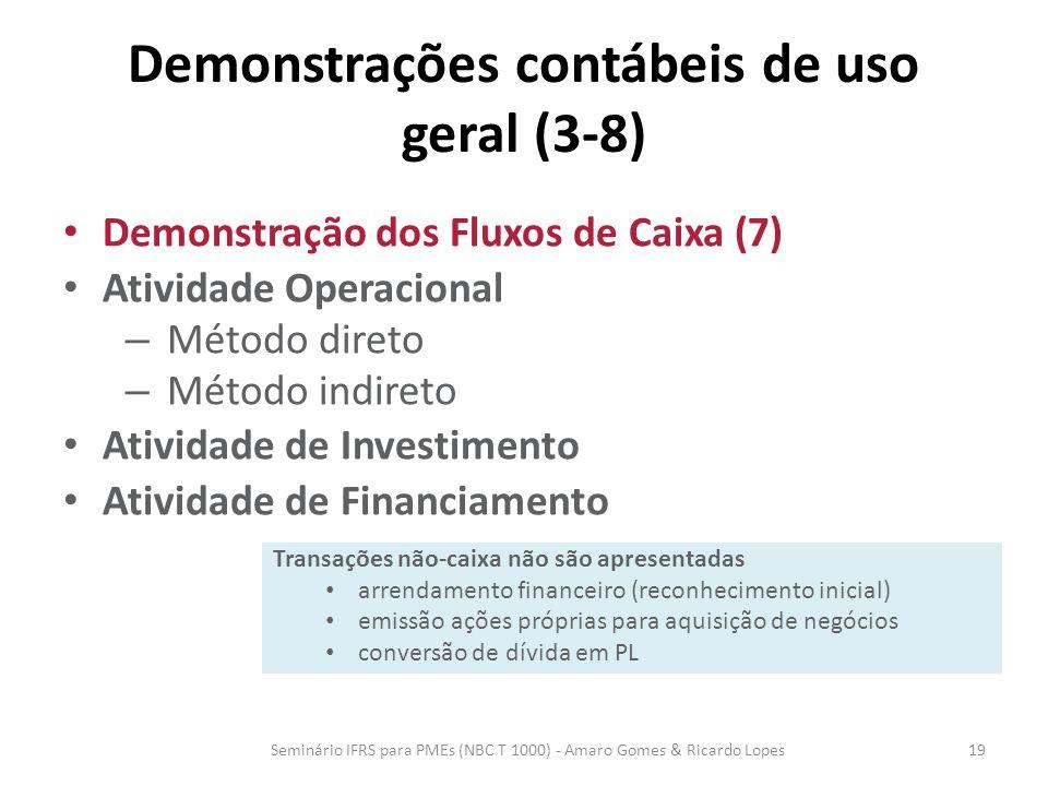 Demonstrações contábeis de uso geral (3-8)