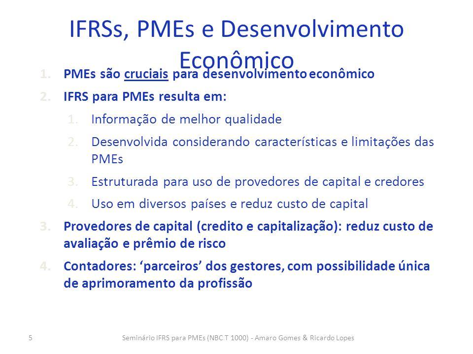 IFRSs, PMEs e Desenvolvimento Econômico