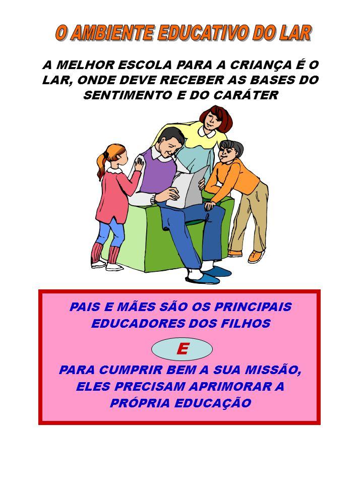 O AMBIENTE EDUCATIVO DO LAR