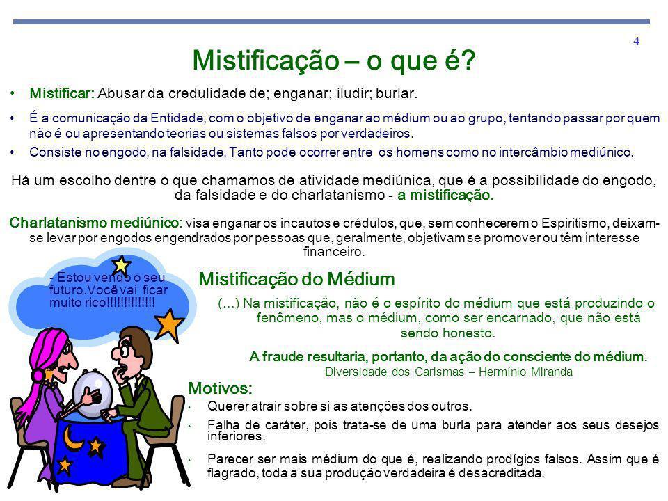 Mistificação – o que é Mistificação do Médium Motivos: