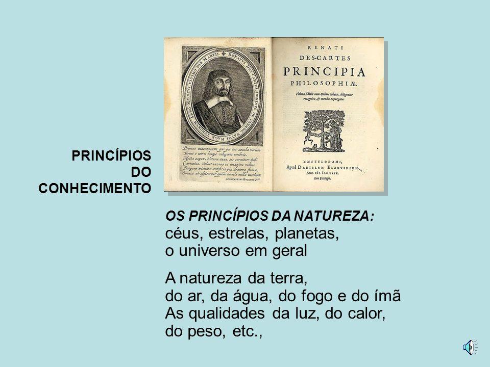 PRINCÍPIOS DO CONHECIMENTO