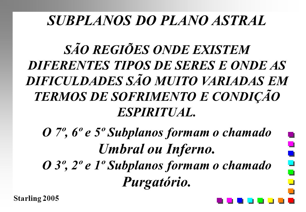 SUBPLANOS DO PLANO ASTRAL Purgatório.