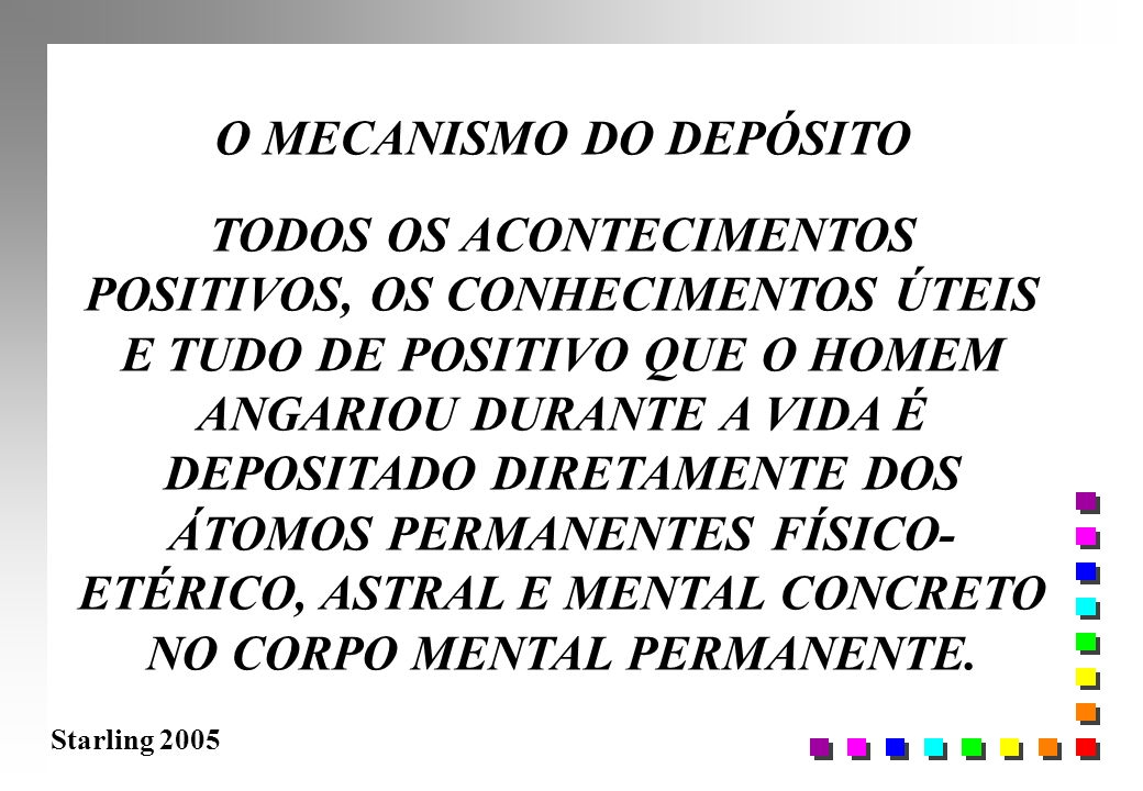 O MECANISMO DO DEPÓSITO