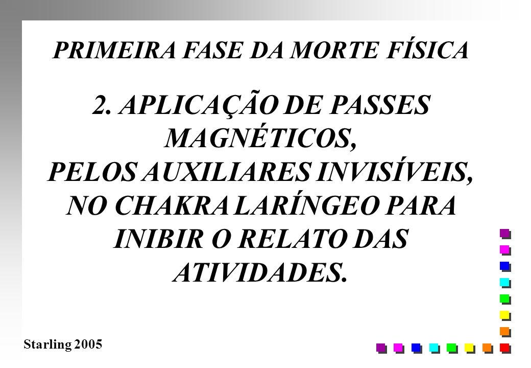 PRIMEIRA FASE DA MORTE FÍSICA 2. APLICAÇÃO DE PASSES MAGNÉTICOS,