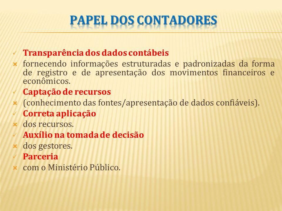 PAPEL DOS CONTADORES Transparência dos dados contábeis