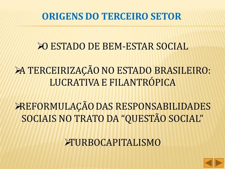 ORIGENS DO TERCEIRO SETOR