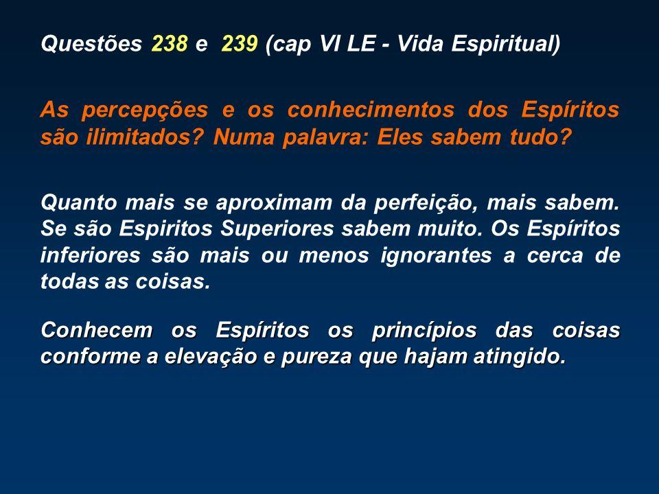 Questões 238 e 239 (cap VI LE - Vida Espiritual)