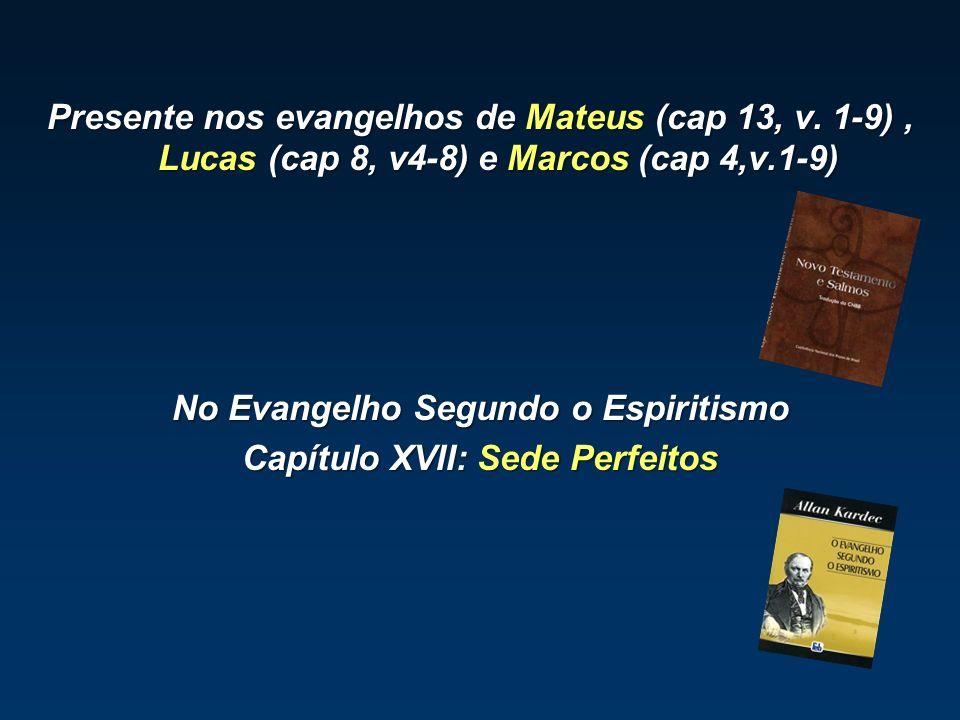 Presente nos evangelhos de Mateus (cap 13, v