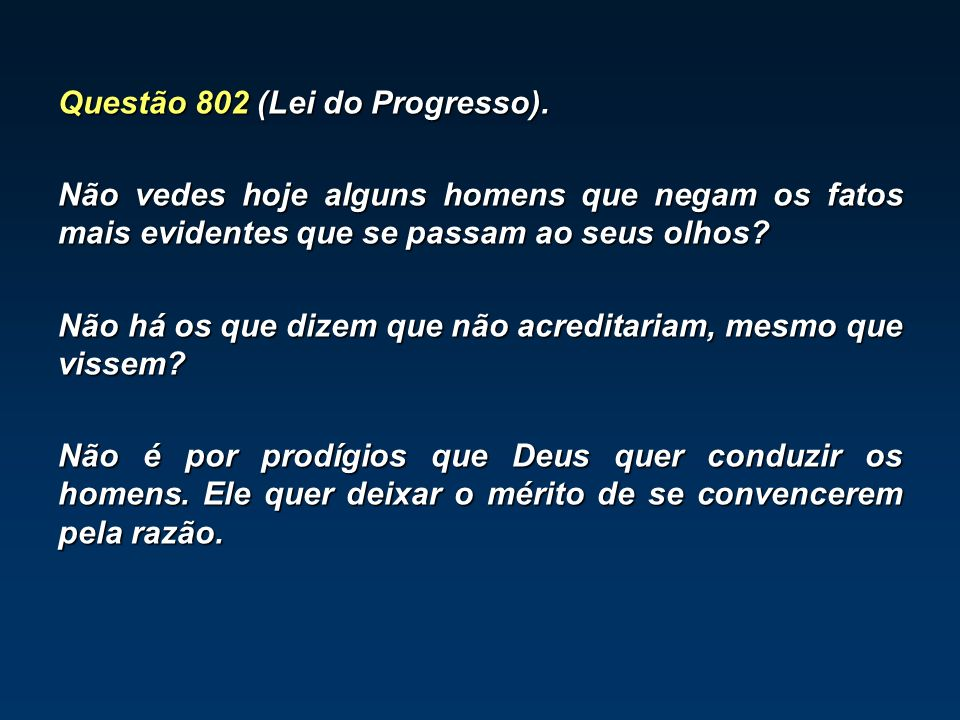 Questão 802 (Lei do Progresso).