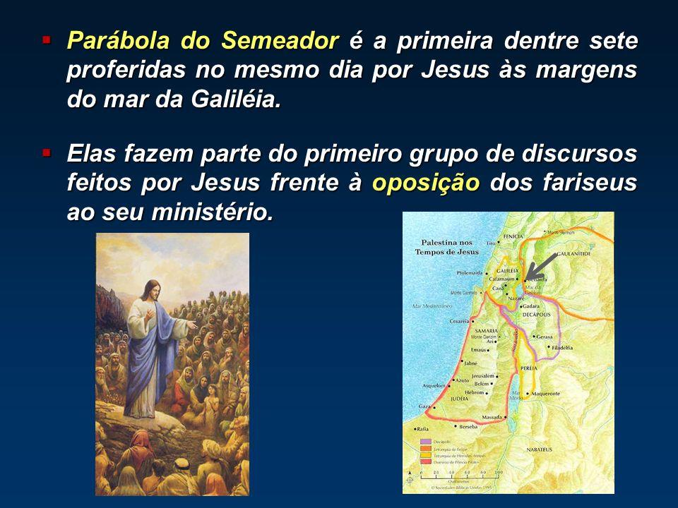 Parábola do Semeador é a primeira dentre sete proferidas no mesmo dia por Jesus às margens do mar da Galiléia.
