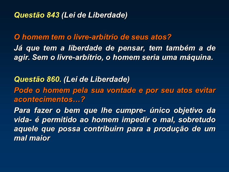 Questão 843 (Lei de Liberdade)
