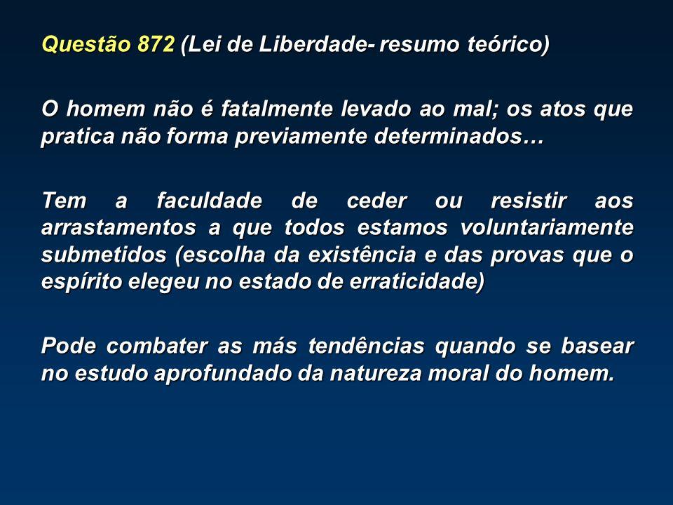 Questão 872 (Lei de Liberdade- resumo teórico)