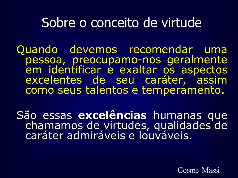 Sobre o conceito de virtude