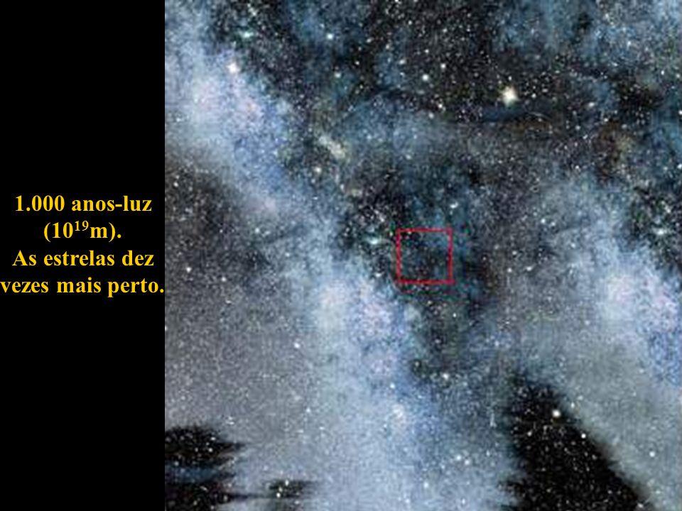 1.000 anos-luz (1019m). As estrelas dez vezes mais perto.