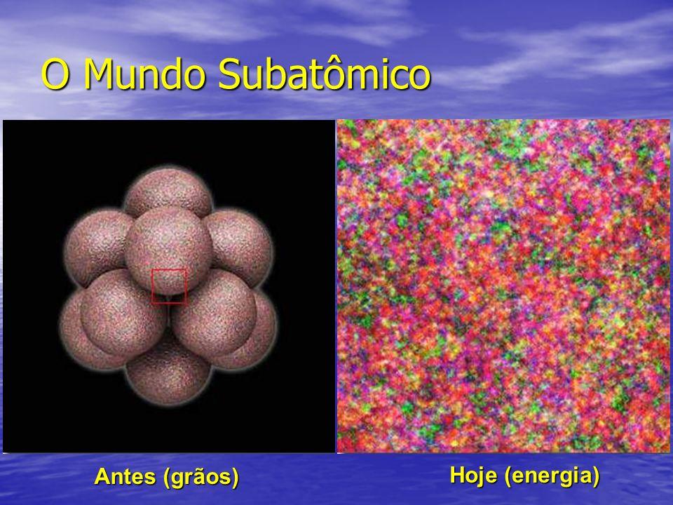 O Mundo Subatômico Antes (grãos) Hoje (energia)