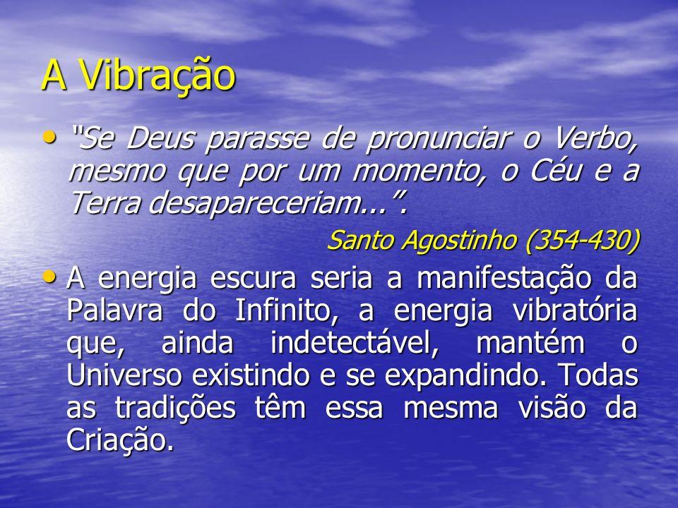 A Vibração Se Deus parasse de pronunciar o Verbo, mesmo que por um momento, o Céu e a Terra desapareceriam... .