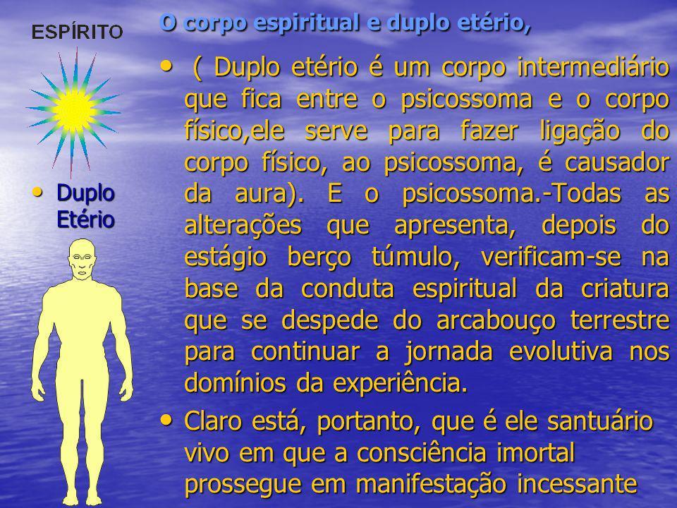 O corpo espiritual e duplo etério,