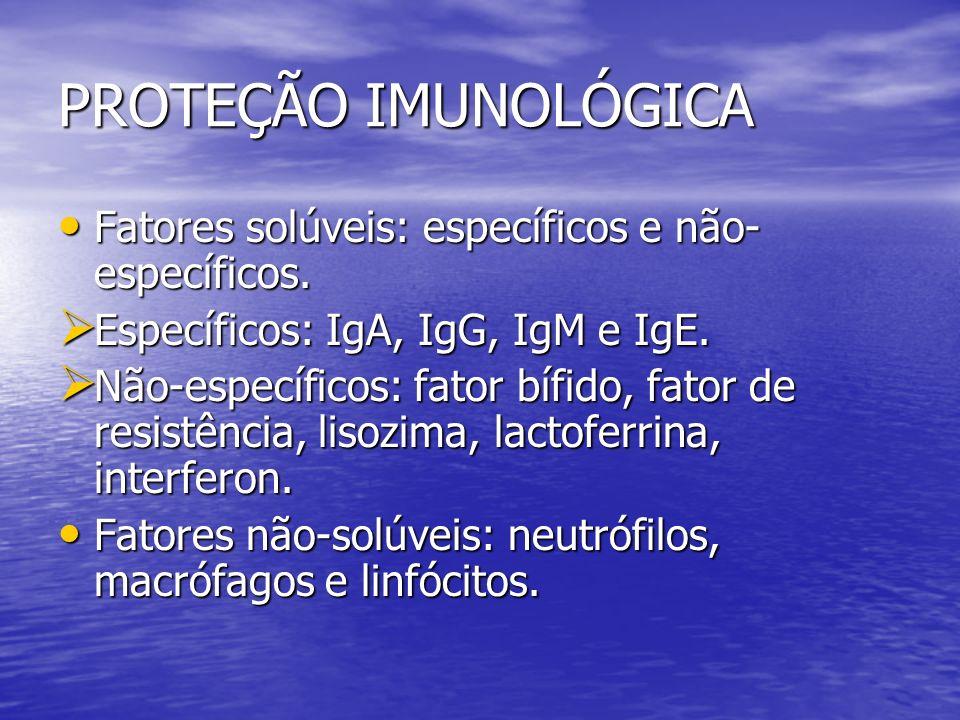PROTEÇÃO IMUNOLÓGICA Fatores solúveis: específicos e não-específicos.