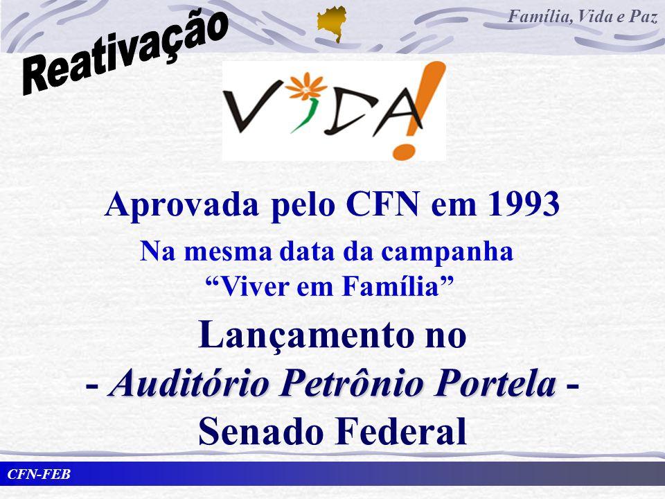 Na mesma data da campanha - Auditório Petrônio Portela -