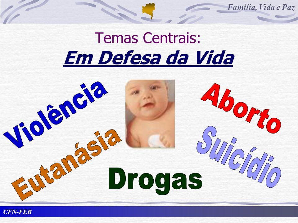 Temas Centrais: Em Defesa da Vida
