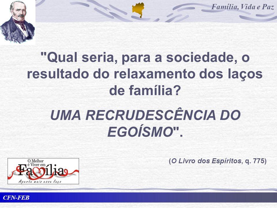 UMA RECRUDESCÊNCIA DO EGOÍSMO .