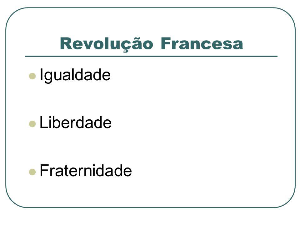 Revolução Francesa Igualdade Liberdade Fraternidade