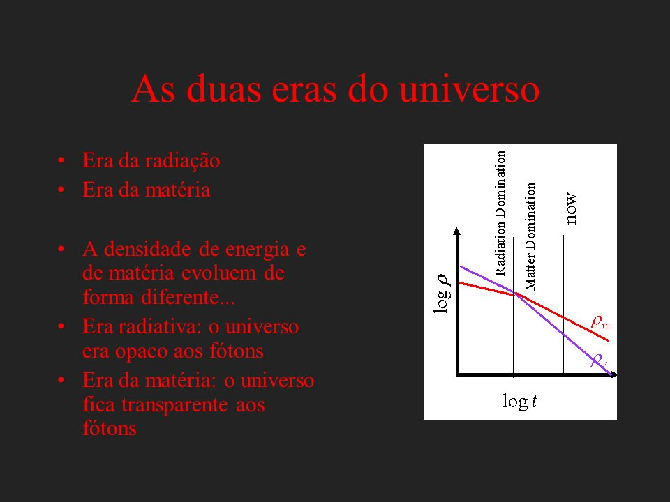 As duas eras do universo
