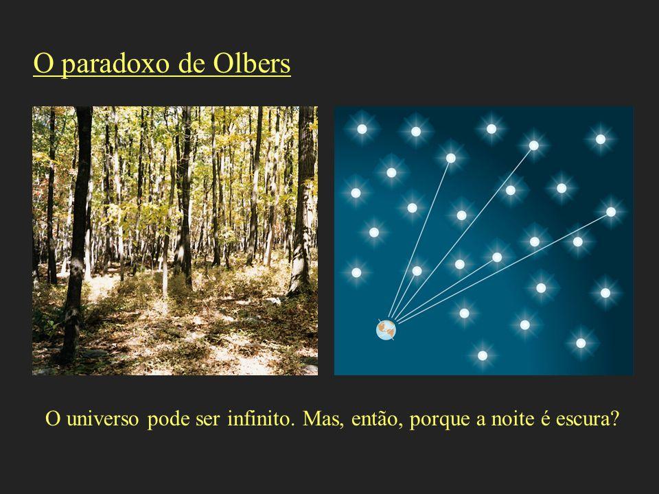 O paradoxo de Olbers O universo pode ser infinito. Mas, então, porque a noite é escura