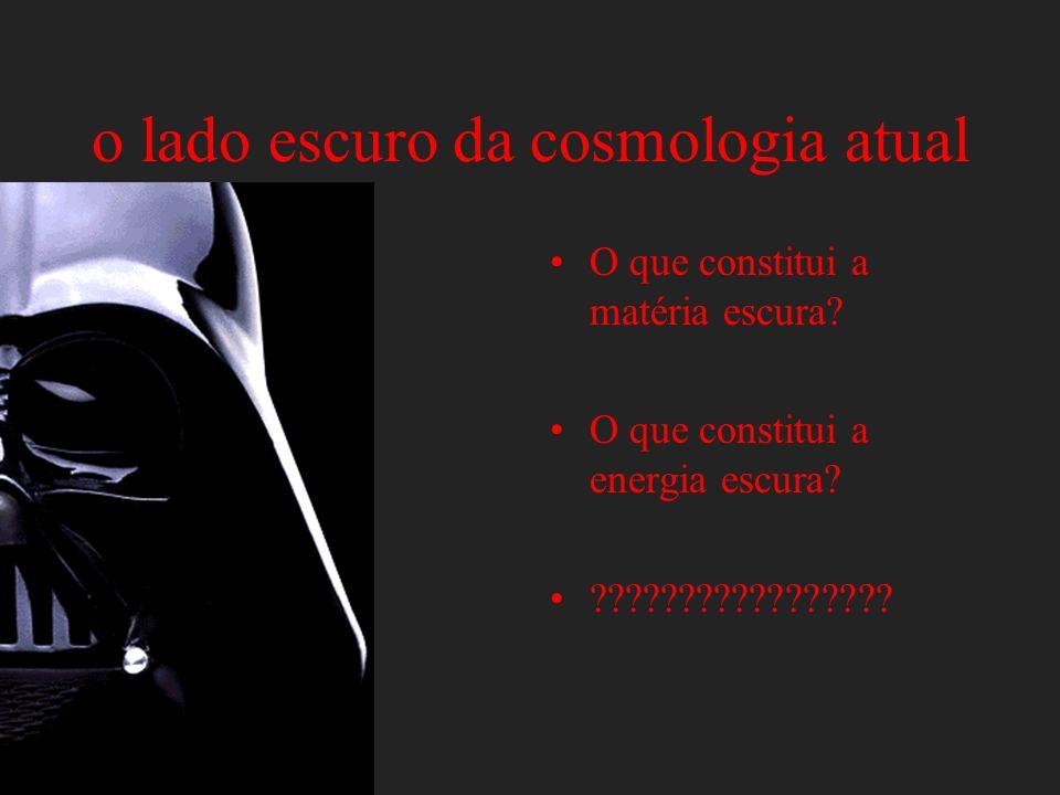 o lado escuro da cosmologia atual