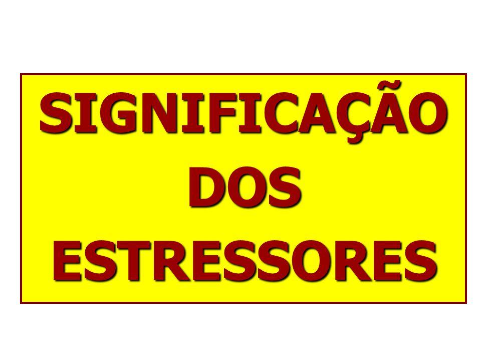 SIGNIFICAÇÃO DOS ESTRESSORES