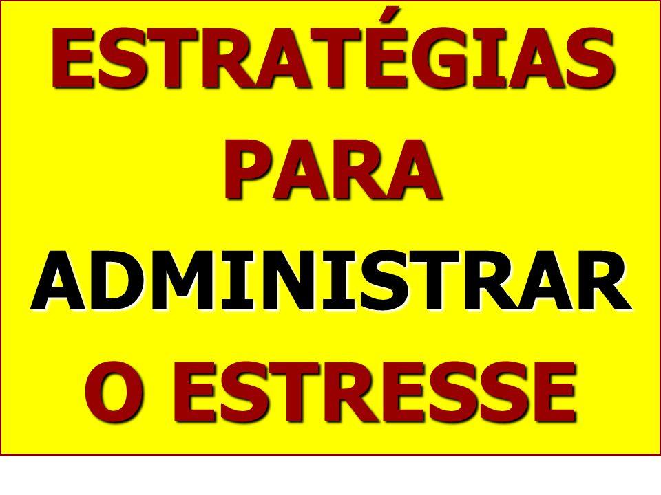 ESTRATÉGIAS PARA ADMINISTRAR O ESTRESSE